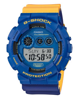 BLUE PURPLE YELLOW MENS ACCESSORIES G SHOCK WATCHES - GD120NC-2DBLPRY