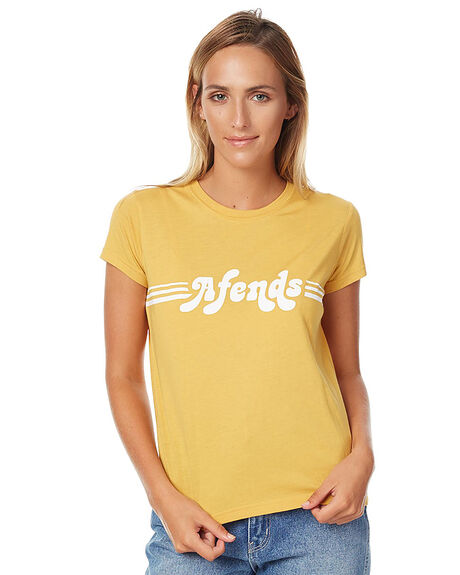 MUSTARD WOMENS CLOTHING AFENDS TEES - 50-05-018MUST