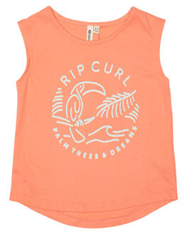 CORAL KIDS TODDLER GIRLS RIP CURL SINGLETS - FTEBM10026