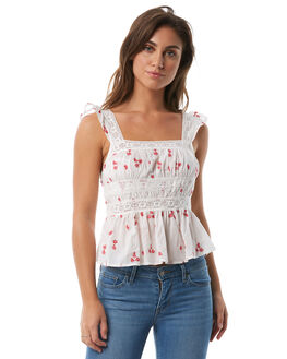 IVORY WOMENS CLOTHING FREE PEOPLE FASHION TOPS - OB7774041103