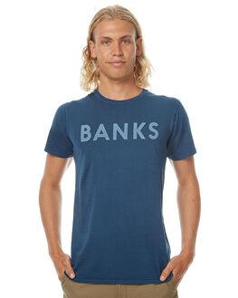 INSIGNIA BLUE MENS CLOTHING BANKS TEES - WTS0182ISB