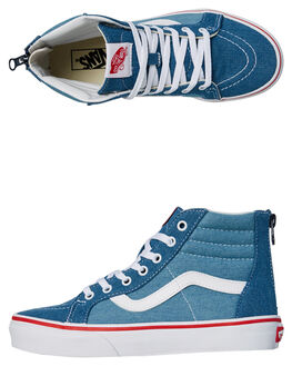 BLUE WHITE KIDS BOYS VANS HI TOPS - VNA3276Q69BLU