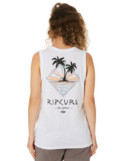WHITE WOMENS CLOTHING RIP CURL SINGLETS - GTEBL21000