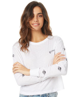 WHITE WOMENS CLOTHING BILLABONG TEES - 6571074WHT