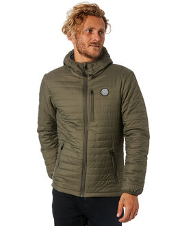 DARK OLIVE MENS CLOTHING RIP CURL JACKETS - CJKCT19389