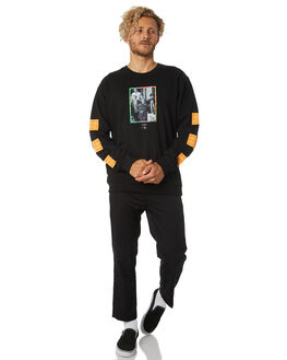 BLACK MENS CLOTHING GOOD WORTH JUMPERS - OES1831BLK