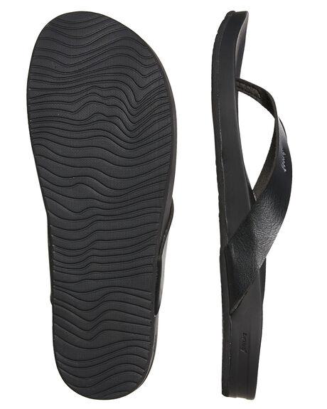 BLACK MENS FOOTWEAR REEF THONGS - A3FDSBLA