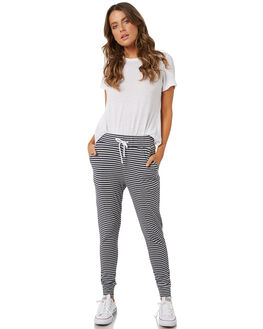 GREY NAVY STRIPE WOMENS CLOTHING SWELL PANTS - S8182194GRNVS