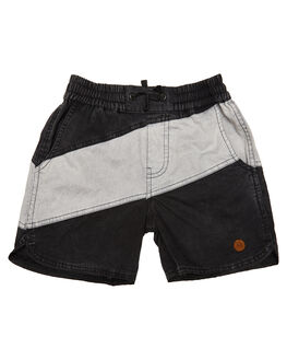 BLACK KIDS TODDLER BOYS CHILDREN OF THE TRIBE SHORTS - BYDR0334BLK