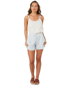 POWDER BLUE WOMENS CLOTHING ZULU AND ZEPHYR SHORTS - ZZ2785BLUE