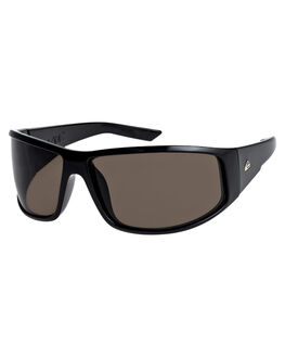 SHINY BLACK GREY MENS ACCESSORIES QUIKSILVER SUNGLASSES - EQYEY03030XKKS