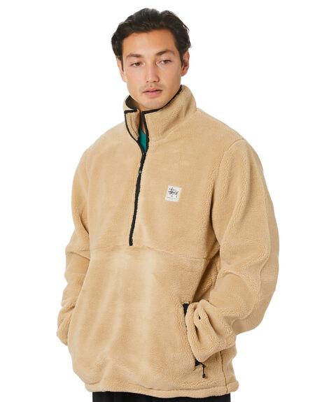 LIGHT TAN MENS CLOTHING STUSSY JACKETS - ST006511LTTAN