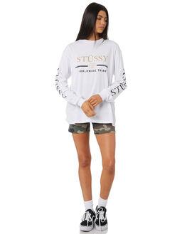 WHITE WOMENS CLOTHING STUSSY TEES - ST195011WHT