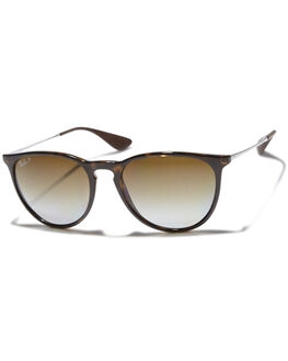 GUNMETAL BROWN UNISEX ADULTS RAY-BAN SUNGLASSES - 0RB417154710T5