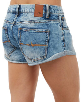 THRIFTED BLUE WOMENS CLOTHING RUSTY SHORTS - WKL0597THB