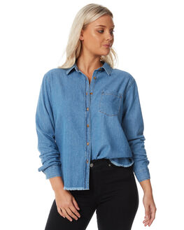 CHAMBRAY WOMENS CLOTHING SWELL FASHION TOPS - S8182383CHAMB