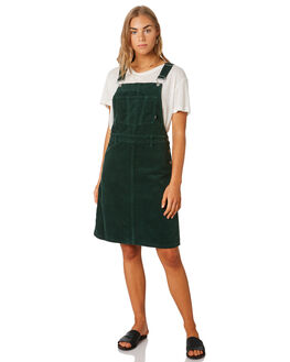 DEEP GREEN CORD WOMENS CLOTHING DR DENIM PLAYSUITS + OVERALLS - 1930105-312