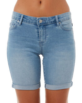 BLUE SMOKE WOMENS CLOTHING RIDERS BY LEE SHORTS - R-551281-CT3BLUE