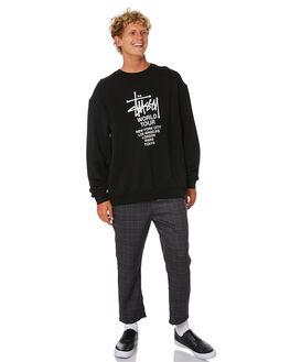 BLACK MENS CLOTHING STUSSY JUMPERS - ST006201BLK