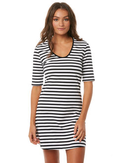 BLACK W WHITE WOMENS CLOTHING THE FIFTH LABEL DRESSES - 40180335-5BLK