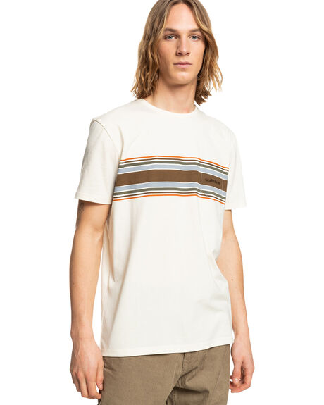 ANTIQUE WHITE MENS CLOTHING QUIKSILVER TEES - EQYZT06558-WCL0