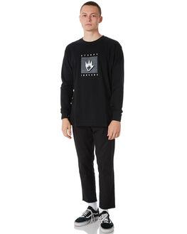 BLACK MENS CLOTHING AFENDS TEES - M182065BLK