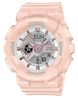 PINK ROSE GOLD WOMENS ACCESSORIES BABY G WATCHES - BA110RG-4APASPR