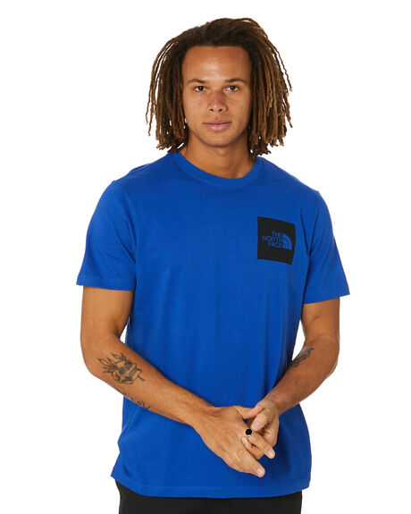 TNF BLUE MENS CLOTHING THE NORTH FACE TEES - NF0A55UXCZ6