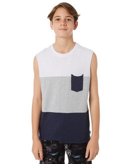 WHITE KIDS BOYS SWELL TOPS - S3164271WHT