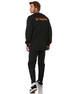 BLACK MENS CLOTHING HUF TEES - TS00806-BLACK