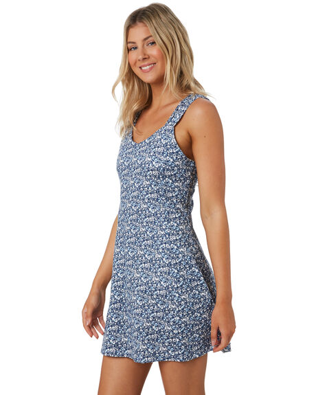 BLUE WOMENS CLOTHING THE HIDDEN WAY DRESSES - H8202441BLUE