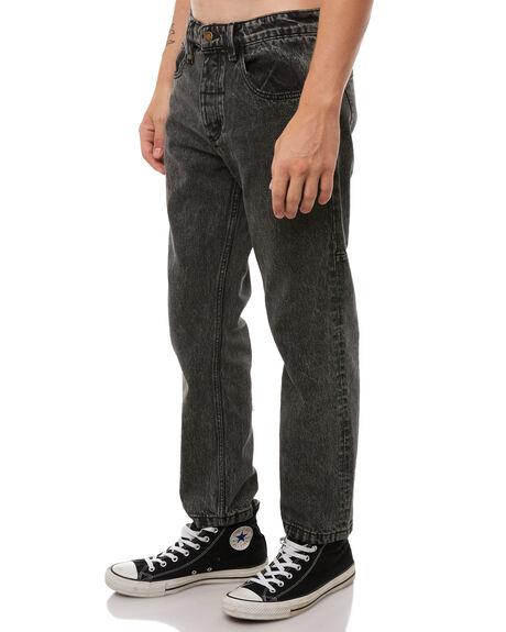 STONED BLACK MENS CLOTHING THRILLS JEANS - TDP-414SBSTNBK