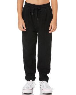 BLACK KIDS GIRLS RUSTY PANTS - PAG0004BLK