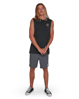 WASHED BLACK MENS CLOTHING VONZIPPER SINGLETS - VZ-3994501-WAA