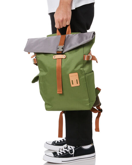 KHAKI MENS ACCESSORIES HARVEST LABEL BAGS + BACKPACKS - HLO-0945-KHA