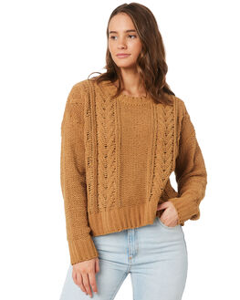 TOFFEE WOMENS CLOTHING BILLABONG KNITS + CARDIGANS - 6595797T22
