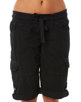 BLACK WOMENS CLOTHING RIP CURL SHORTS - GWABZ10090