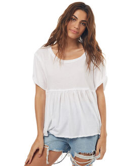 WHITE WOMENS CLOTHING FREE PEOPLE TEES - OB5628501100