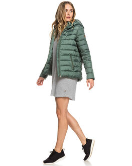 DUCK GREEN WOMENS CLOTHING ROXY JACKETS - ERJJK03250-GPL0
