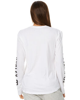 WHITE WOMENS CLOTHING HURLEY TEES - AGTLSTOU10A