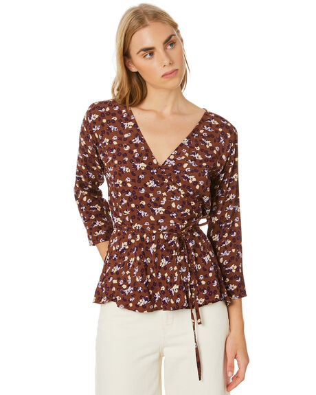 STEVIE FLORAL BRANDY WOMENS CLOTHING RUE STIIC FASHION TOPS - SW-20-25-2-SFB-VRSFB
