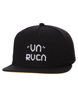 BLACK MENS ACCESSORIES RVCA HEADWEAR - R371561ABLK