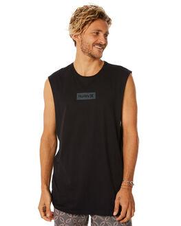 BLACK MENS CLOTHING HURLEY SINGLETS - AR4206010