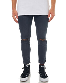 SMOULDER BLACK MENS CLOTHING ZIGGY JEANS - ZM-1111SMBLK