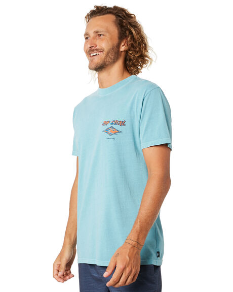 TEAL MENS CLOTHING RIP CURL TEES - CTEMW94821