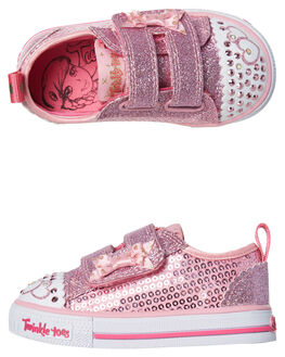 PINK KIDS TODDLER GIRLS SKECHERS FOOTWEAR - 10764NPNK