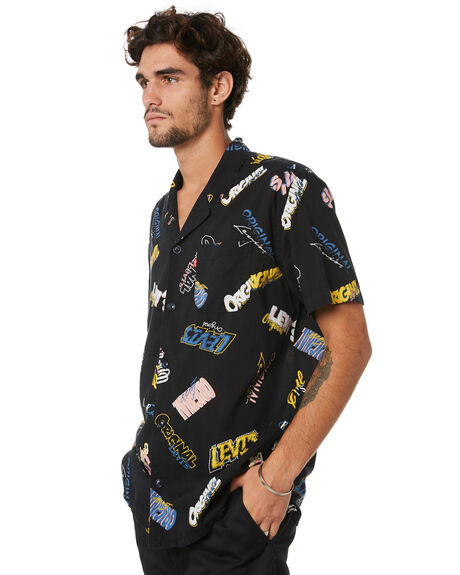 MINERAL BLACK PRINT MENS CLOTHING LEVI'S SHIRTS - 21976-0013MNBKP