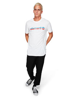 WHITE/RED MENS CLOTHING ELEMENT TEES - EL-183001-WHR
