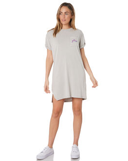 OPAL GREY WOMENS CLOTHING RUSTY DRESSES - DRL0990OPG