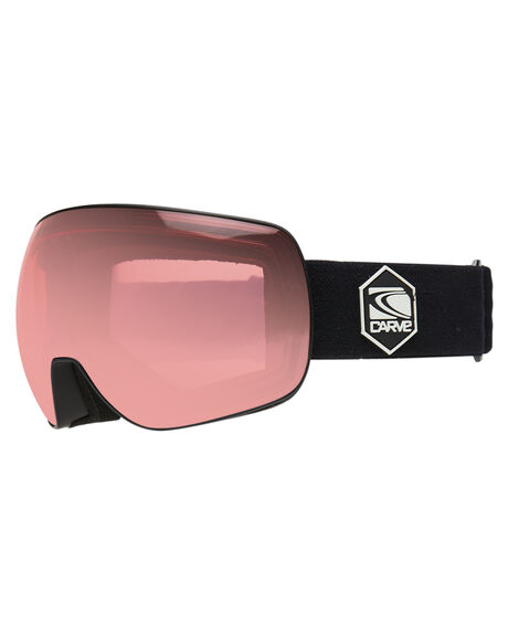 MATT BLACK ROSE BOARDSPORTS SNOW CARVE GOGGLES - 6154MBLK